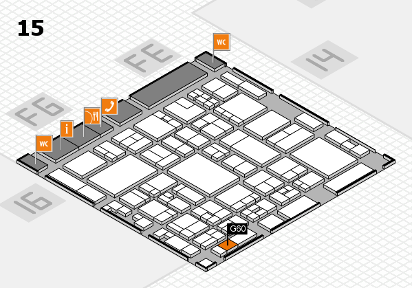 glasstec 2016 hall map (Hall 15): stand G60