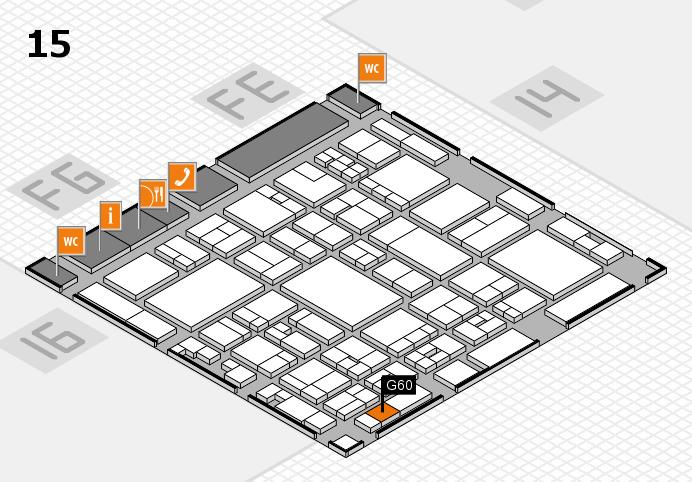 glasstec 2016 hall map (Hall 15): stand G60