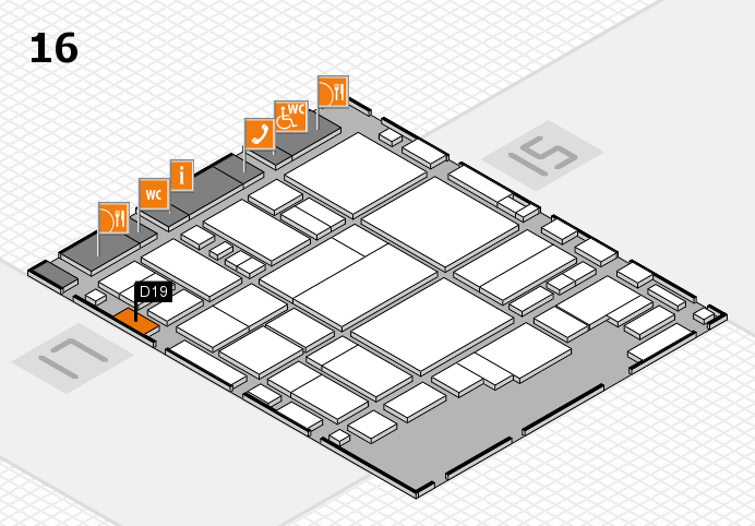 glasstec 2016 hall map (Hall 16): stand D19