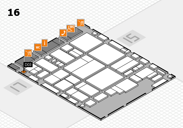 glasstec 2016 hall map (Hall 16): stand D03