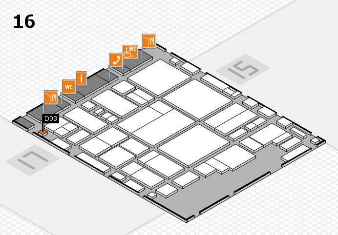 glasstec 2016 Hallenplan (Halle 16): Stand D03
