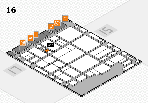glasstec 2016 hall map (Hall 16): stand C16