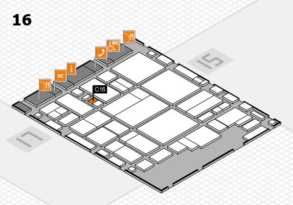 glasstec 2016 Hallenplan (Halle 16): Stand C16