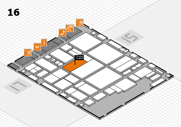 glasstec 2016 hall map (Hall 16): stand C22