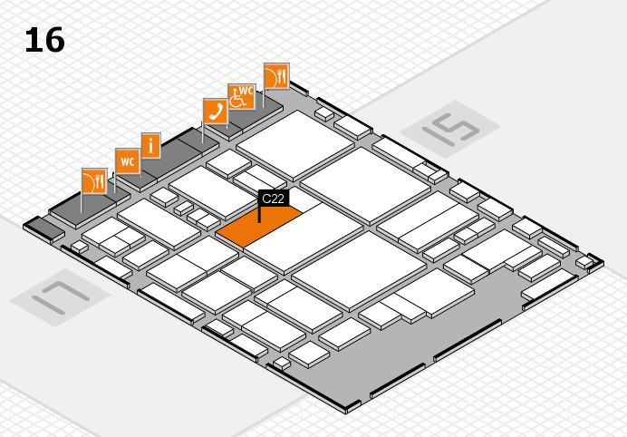 glasstec 2016 hall map (Hall 16): stand C22