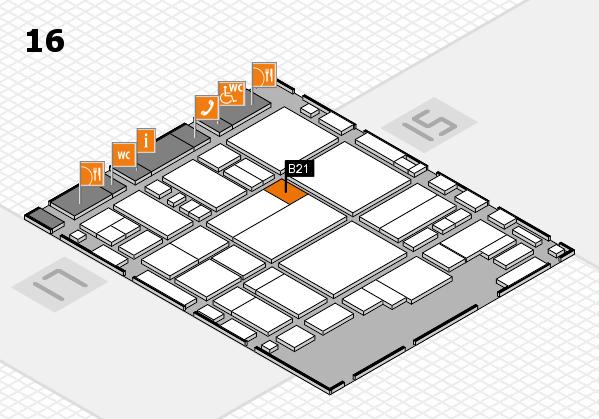 glasstec 2016 Hallenplan (Halle 16): Stand B21