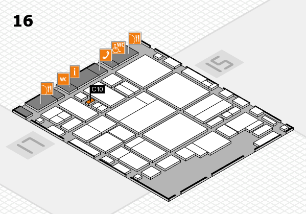 glasstec 2016 hall map (Hall 16): stand C10
