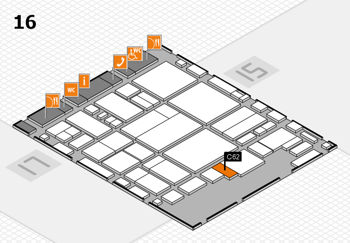 glasstec 2016 hall map (Hall 16): stand C62