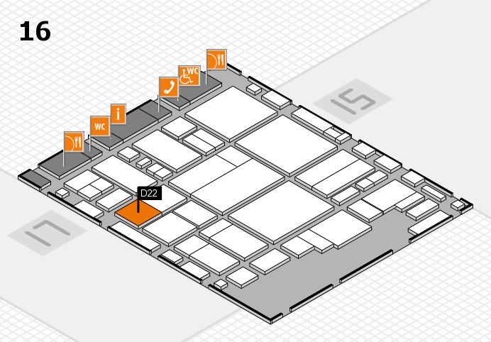 glasstec 2016 hall map (Hall 16): stand D22