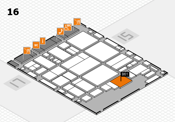 glasstec 2016 hall map (Hall 16): stand B61