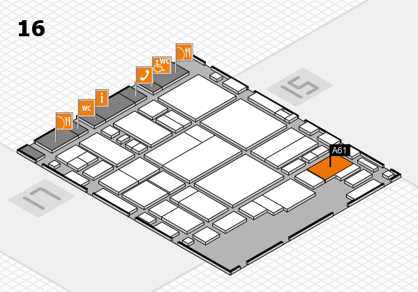 glasstec 2016 hall map (Hall 16): stand A61