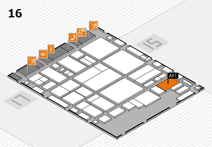 glasstec 2016 hall map (Hall 16): stand A61