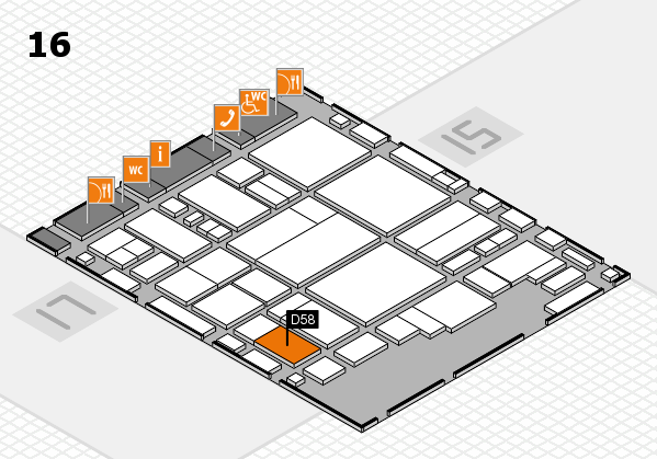 glasstec 2016 hall map (Hall 16): stand D58