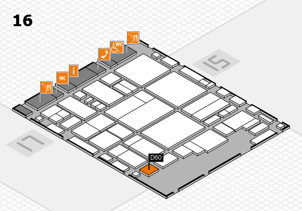 glasstec 2016 hall map (Hall 16): stand D60