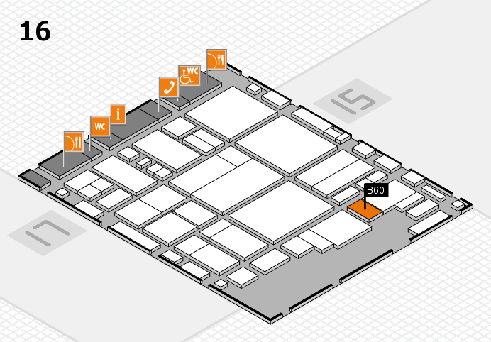 glasstec 2016 hall map (Hall 16): stand B60