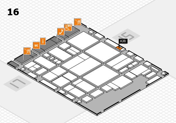 glasstec 2016 hall map (Hall 16): stand A38