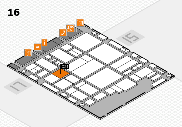 glasstec 2016 hall map (Hall 16): stand C21
