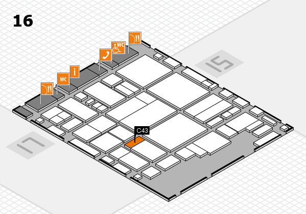 glasstec 2016 hall map (Hall 16): stand C43