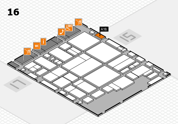 glasstec 2016 hall map (Hall 16): stand A18