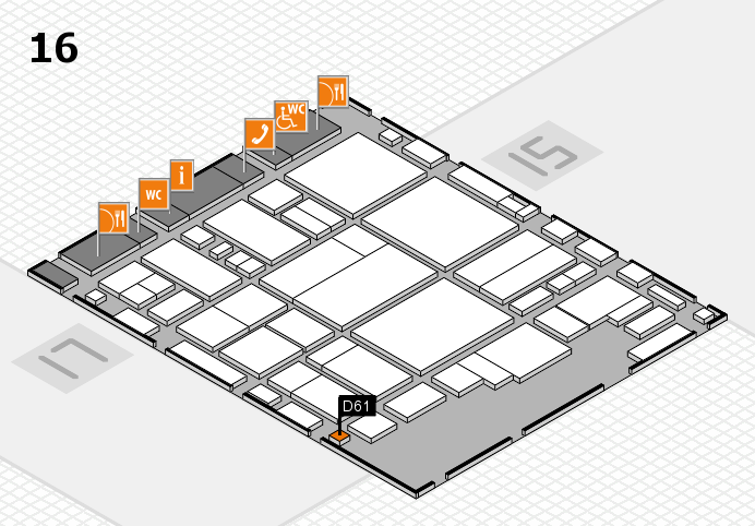 glasstec 2016 hall map (Hall 16): stand D61