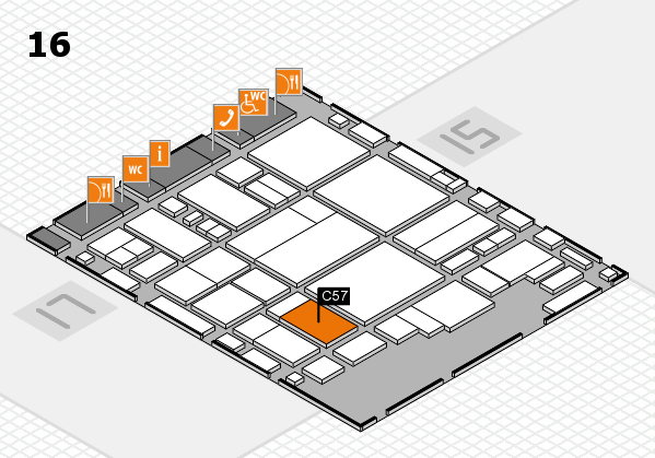glasstec 2016 hall map (Hall 16): stand C57
