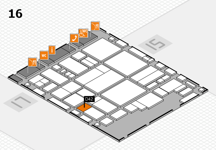 glasstec 2016 hall map (Hall 16): stand D42