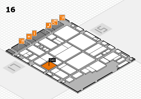 glasstec 2016 hall map (Hall 16): stand D40