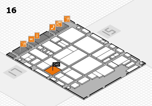 glasstec 2016 Hallenplan (Halle 16): Stand D40