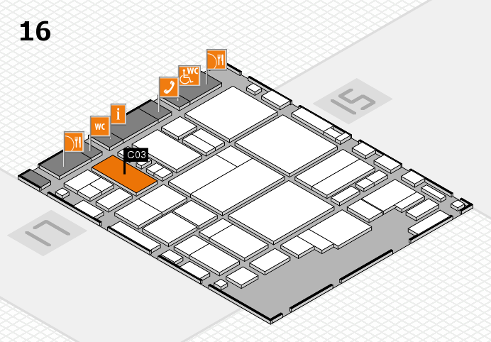 glasstec 2016 hall map (Hall 16): stand C03