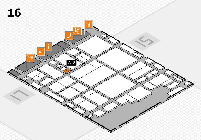glasstec 2016 Hallenplan (Halle 16): Stand C18