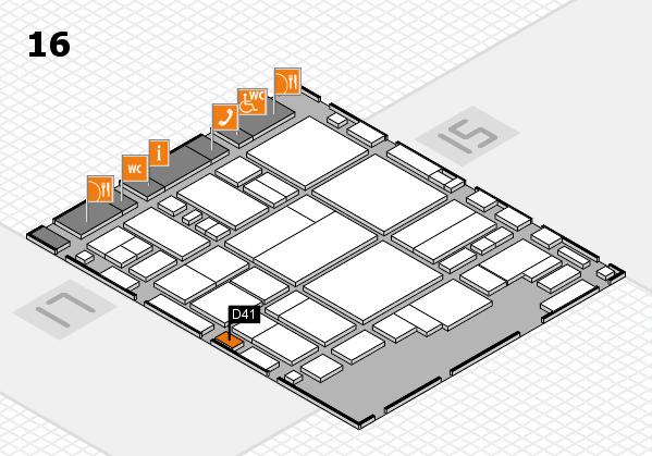 glasstec 2016 Hallenplan (Halle 16): Stand D41