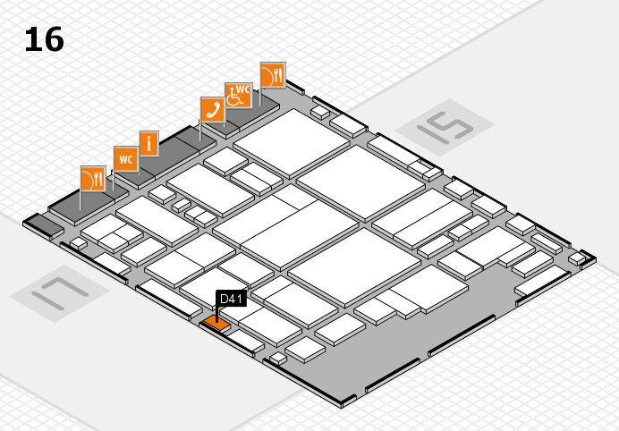glasstec 2016 hall map (Hall 16): stand D41