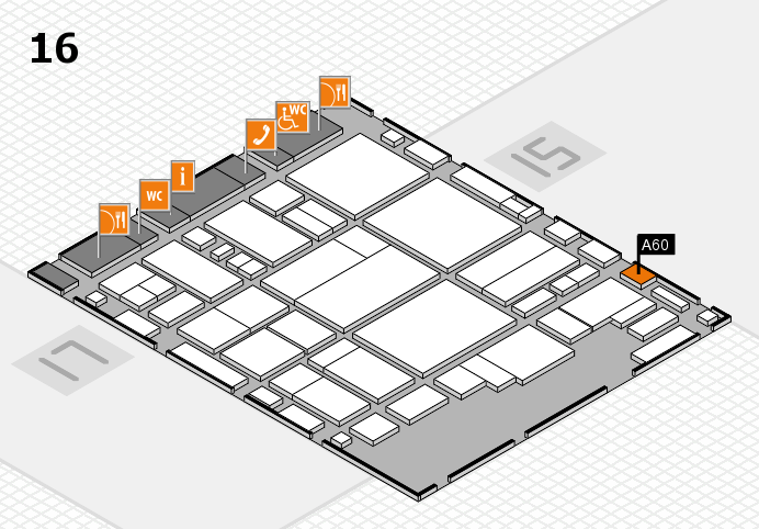 glasstec 2016 hall map (Hall 16): stand A60