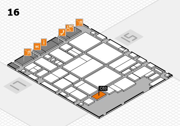 glasstec 2016 Hallenplan (Halle 16): Stand C63