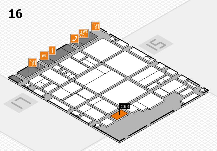 glasstec 2016 hall map (Hall 16): stand C63