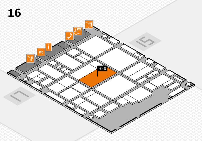 glasstec 2016 hall map (Hall 16): stand B39