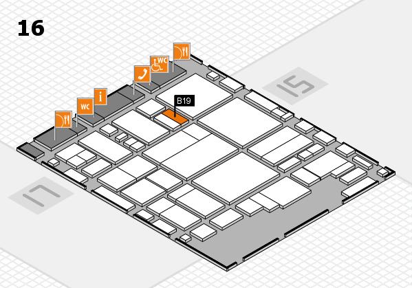glasstec 2016 hall map (Hall 16): stand B19