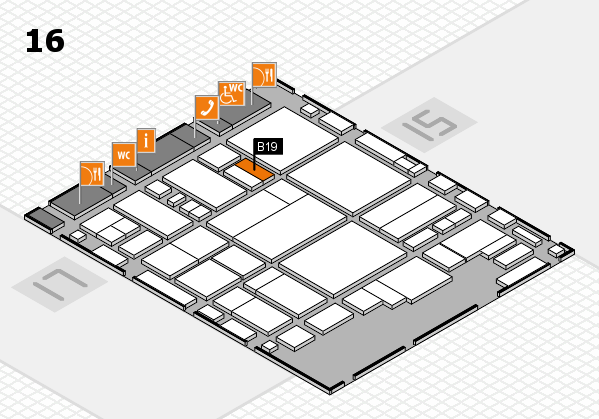 glasstec 2016 Hallenplan (Halle 16): Stand B19