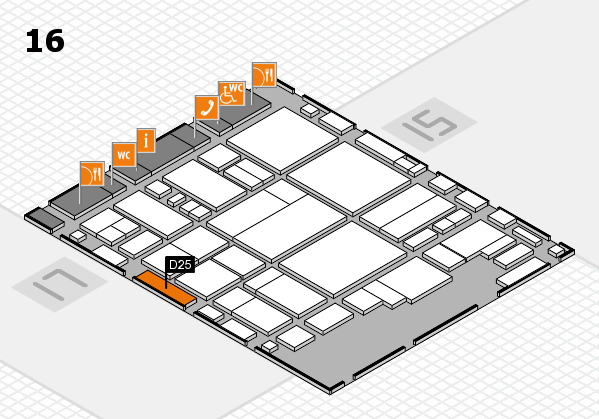 glasstec 2016 hall map (Hall 16): stand D25