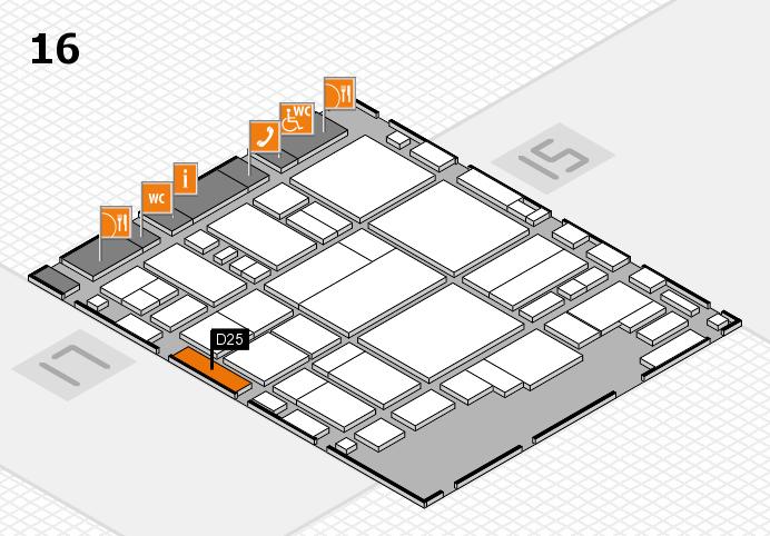 glasstec 2016 hall map (Hall 16): stand D25