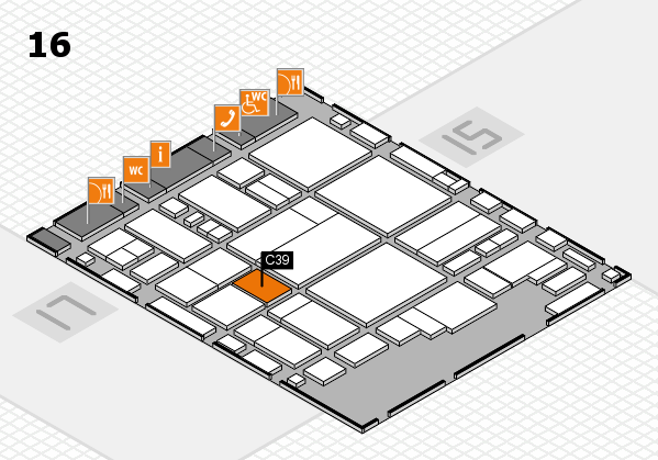 glasstec 2016 hall map (Hall 16): stand C39