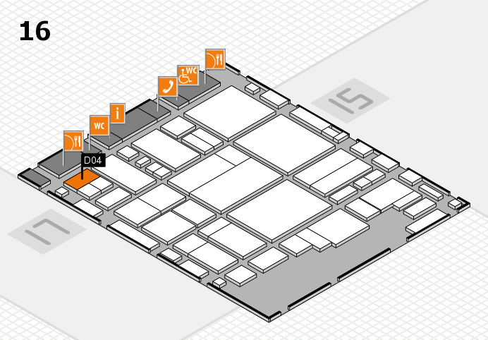 glasstec 2016 hall map (Hall 16): stand D04