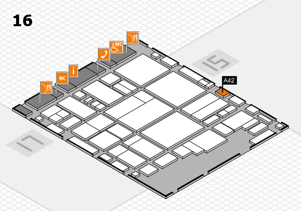 glasstec 2016 hall map (Hall 16): stand A42