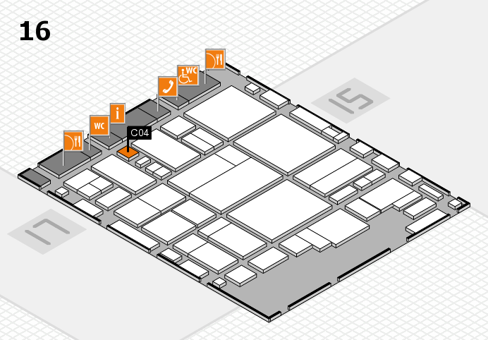 glasstec 2016 hall map (Hall 16): stand C04