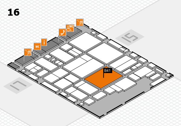 glasstec 2016 hall map (Hall 16): stand B41