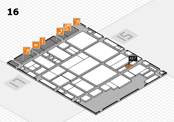 glasstec 2016 hall map (Hall 16): stand A57