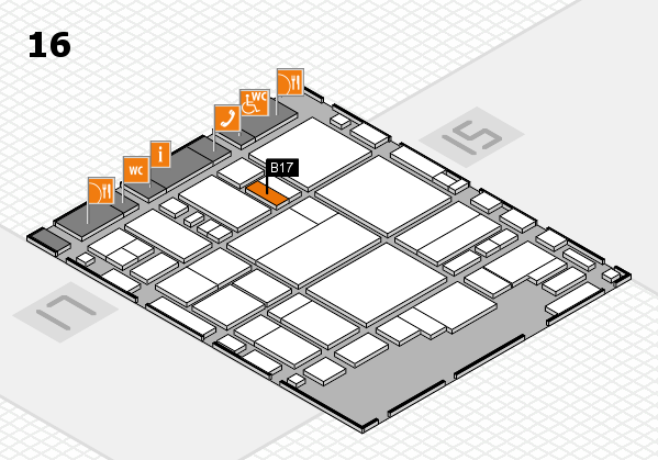 glasstec 2016 hall map (Hall 16): stand B17
