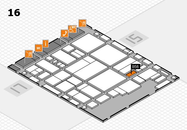 glasstec 2016 Hallenplan (Halle 16): Stand B58