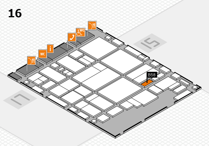 glasstec 2016 hall map (Hall 16): stand B58