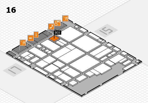 glasstec 2016 hall map (Hall 16): stand B03